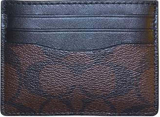 Coach Signature ID Card Mens Wallet Mahogany