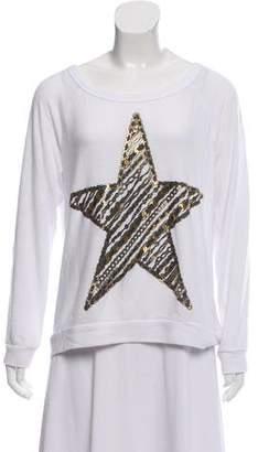 Lauren Moshi Oversize Graphic Print Sweatshirt