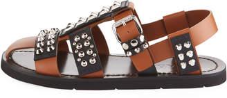 Prada Novo Studded Leather Sandals