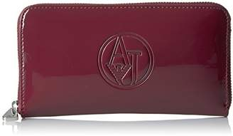 Armani Jeans Women's Patent Leather Zip Around Wallet