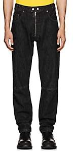 GmbH Men's Exposed-Zip Articulated Jeans-Black