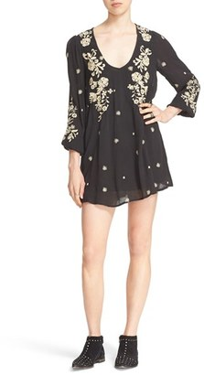 Women's Free People 'Sweet Tennessee' Embroidered Minidress $148 thestylecure.com