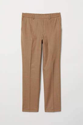 H&M Elasticized Wool Pants - Beige