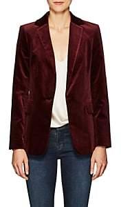 Frame Women's Classic Velvet One-Button Blazer-Wine