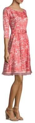 Marc Jacobs Silk Fit-&-Flare Belt Dress