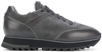 Santoni ridged lace-up sneakers