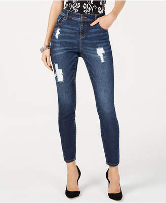 INC International Concepts I.n.c. Curvy-Fit Destructed Skinny Jeans