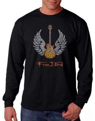 Freebird Pop Culture Los Angeles Pop Art Big Men's Long Sleeve T-Shirt - Lyrics To