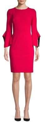 Taylor Bell Sleeve Sheath Dress