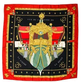 Hermes Vue Du Carrosse De Galere La Reale Silk Scarf