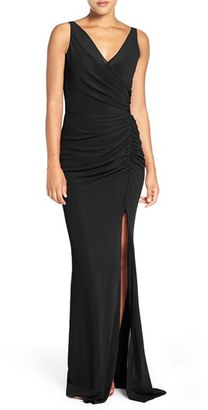 Women's Katie May Wrap Front Chiffon Gown $330 thestylecure.com