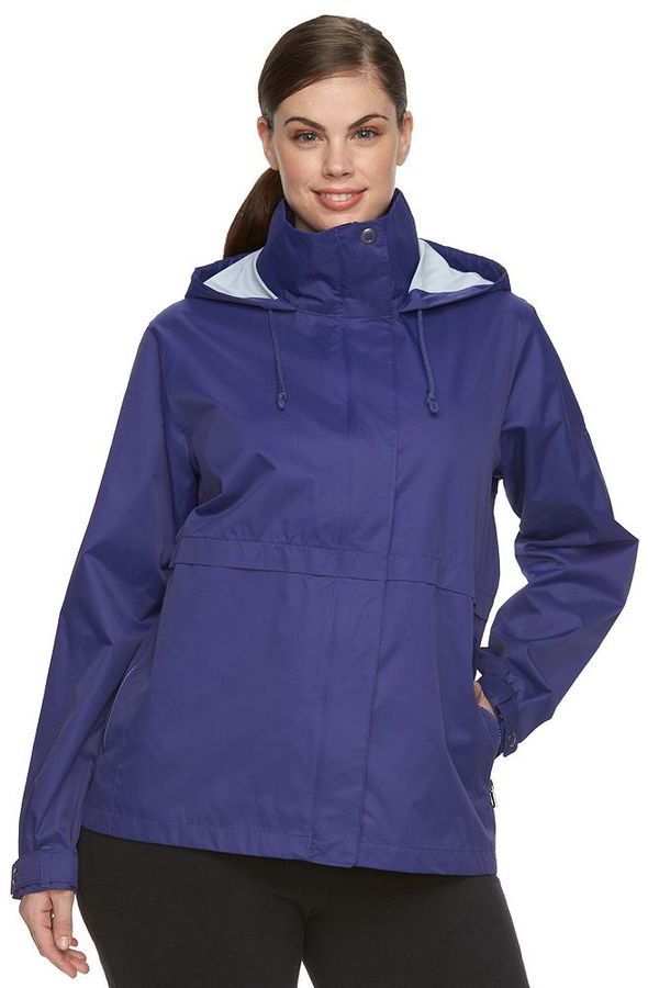 ColumbiaPlus Size Columbia Spring Run Hooded Short Trench Jacket