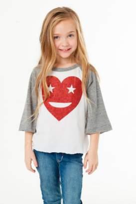 Chaser Glitter Heart Raglan