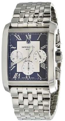 Raymond Weil Men's 4878-ST-00668 Don Giovanni Rectangular Case Automatic Movement Watch