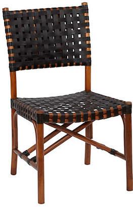 One Kings Lane Muli Rattan Side Chair - Cocoa/Black