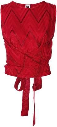M Missoni chevron pattern sleeveless top