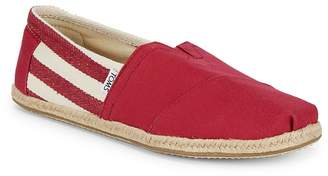 Toms Men's Striped Canvas Slip-On Sneakers
