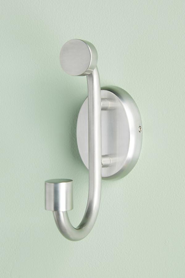 Gebürsteter Handtuch-Haken in geometrischer Form - Grey