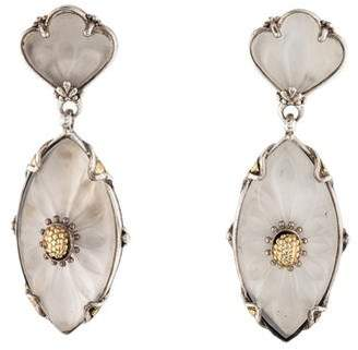 Konstantino Quartz Iris Drop Earrings