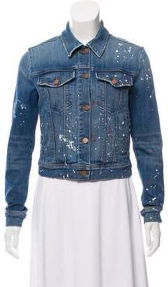 J Brand Paint Splatter Denim Jacket