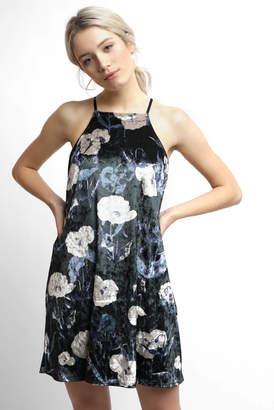 Sam&lavi Sam & Lavi Bare Printed Velvet Square Neck Swing Dress