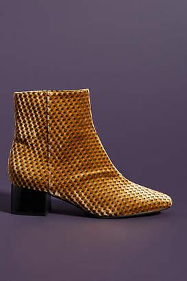 Anthropologie Vera Velvet Ankle Boots