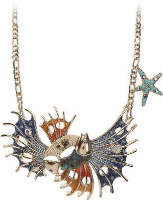 Betsey Johnson Fish Bib Necklace - Women's