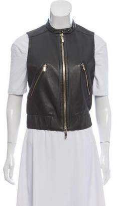 Diane von Furstenberg Buckley Leather Vest