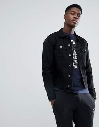 Jack and Jones Intelligence Denim Jacket In Slim Fit