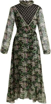 DODO BAR OR Angelina crystal-embellished floral-print dress