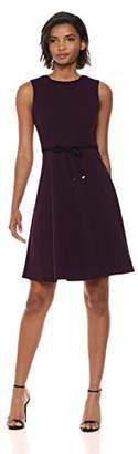 Tommy Hilfiger Women's Scuba Crepe Bow tie Waist Dress