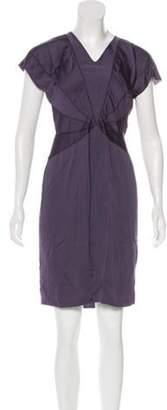 Stella McCartney Cap Sleeve Sheath Dress Aubergine Cap Sleeve Sheath Dress