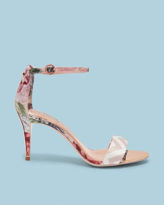 0badb35c57042 Ted Baker MAVBE Printed ankle strap heeled sandals