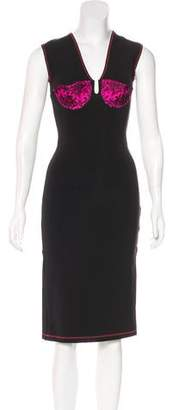 Christopher Kane Sleeveless Knee-Length Dress w/ Tags