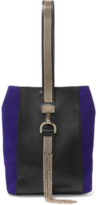 Lanvin - Embellished Leather And Suede Wristlet Bag - Black $1,190 thestylecure.com