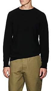 Margaret Howell Men's Wool-Cashmere Saddle-Shoulder Sweater - Black