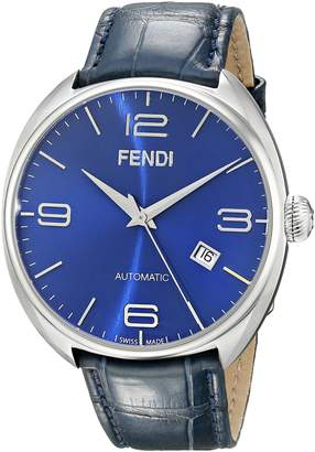 Fendi Men's F200013031 Matic Stainless Steel Automatic Watch with Leather Band
