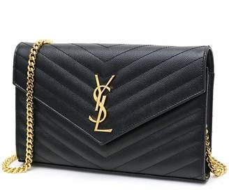 Saint Laurent New!! QUILTED SHOULDER CAVIARE STYLE ORIGINAL LEATHER WOMEN BAG 23X15cm