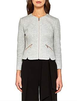 Ted Baker Hatie Grey Zip Thru Jkt