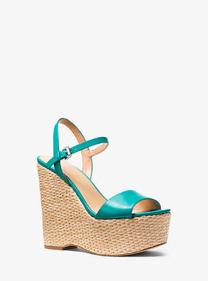 Michael Kors Fisher Leather Wedge