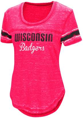 NCAA Women's Campus Heritage Wisconsin Badgers Double Stag Tee
