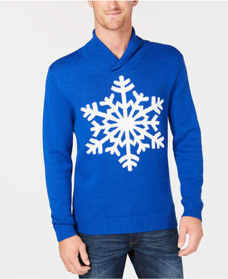 Club Room Men's Shawl-Collar Snowflake Sweater