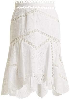 ZIMMERMANN Mercer Fan cotton skirt $450 thestylecure.com