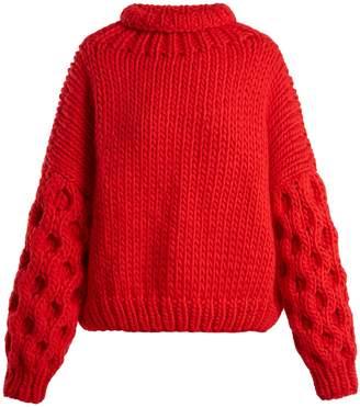 I LOVE MR MITTENS Honey roll-neck wool sweater