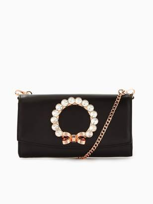 2df571cad Ted Baker Pearlii Pearl Bow Matinee Purse With Chain - Black