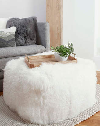 UGG Mongolian Fur Pouf Ottoman