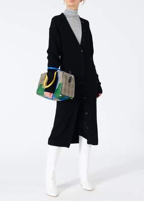 Tibi Merino Rib Sculpted Sleeve Long Cardigan