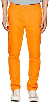 Dickies Construct Men's Logo Cotton Slim Trousers - Orange Size 36