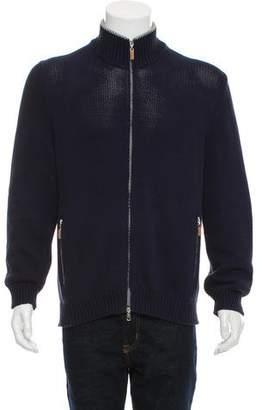 Brunello Cucinelli Knit Zip-Front Sweater