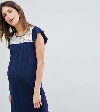 Mama Licious Mama.licious Mamalicious Crochet Insert Jersey Swing Dress